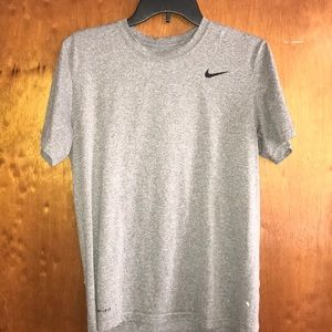 "Gray Nike ""Dri-Fit"" Short Sleeve"